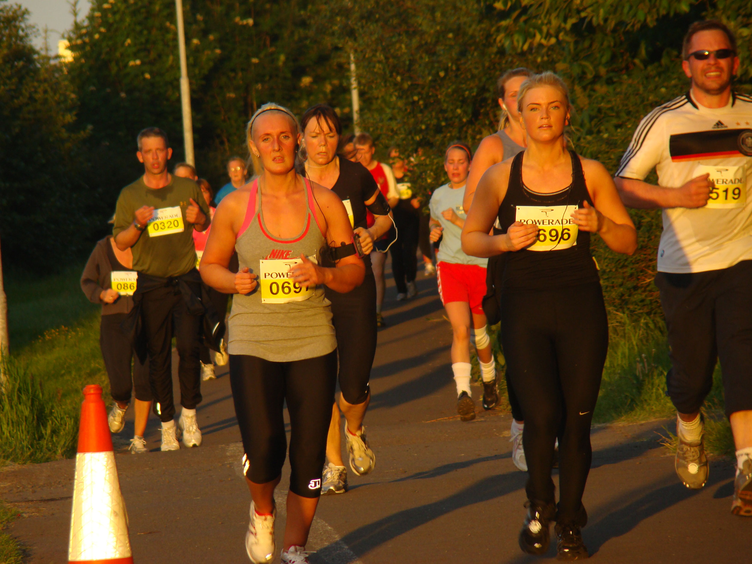 Runners in the Midnight Sun Run